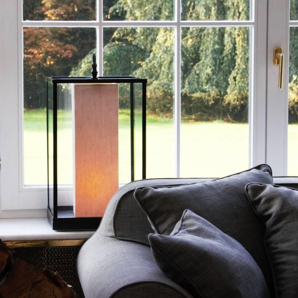 Vloerlamp landelijke stijl kap brons, nikkel, chroom 45cm H