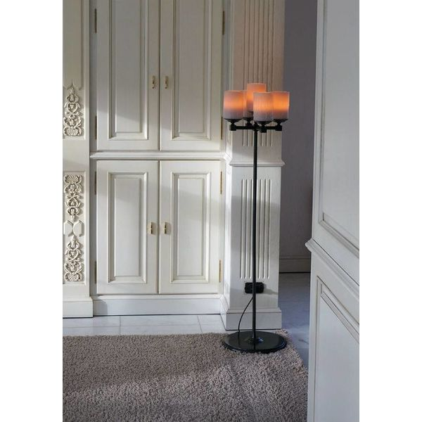 Bijzondere vloerlamp met kaarsen landelijke stijl LED
