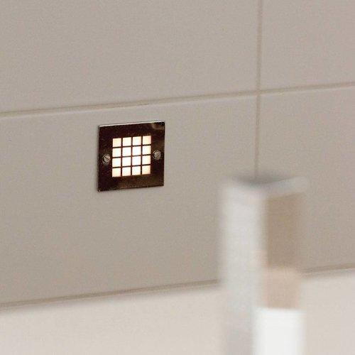 Trapverlichting inbouw IP44 brons, nikkel, chroom, goud