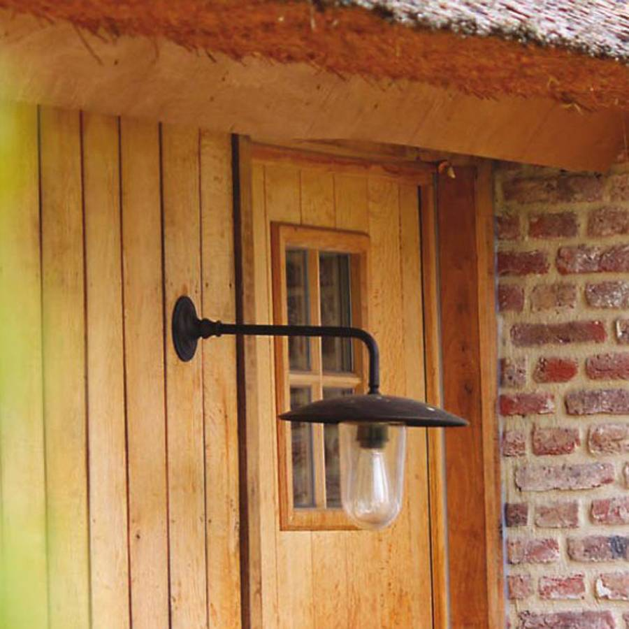 Buitenlamp wandlamp landelijk brons, nikkel, chroom 45 diep