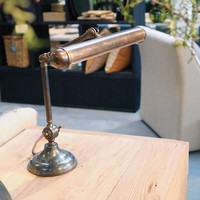 Bureaulamp brons landelijk 2 x E14