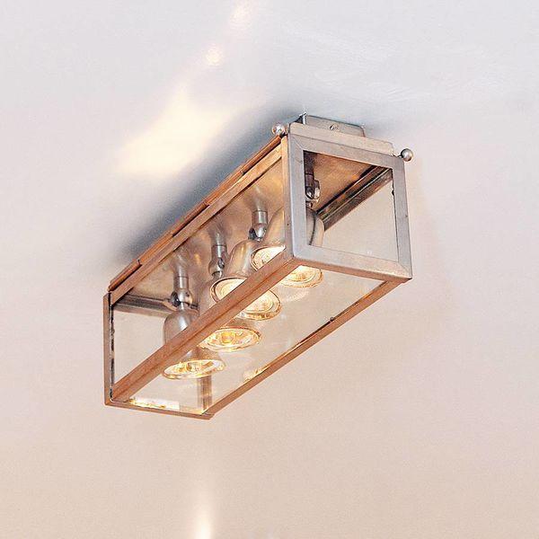 Plafondlamp 4 spots landelijk brons, nikkel, chroom