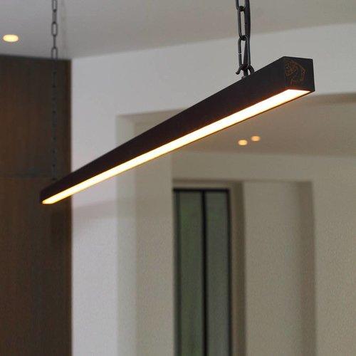Lange hanglamp landelijk brons, nikkel, chroom
