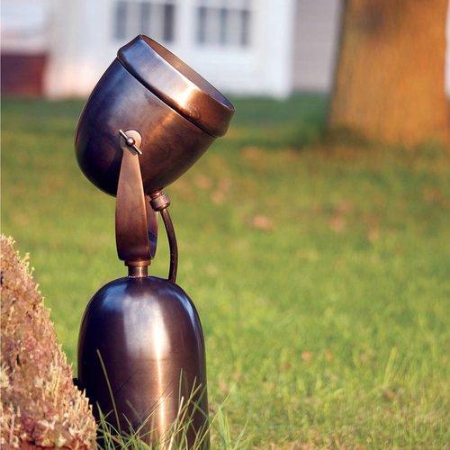 Tuinverlichting spot landelijk brons, nikkel, chroom