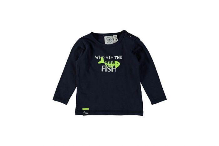Bampidano Bampidano longsleeve Navy fish