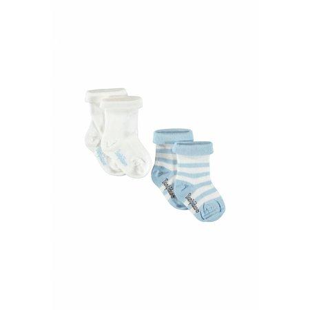 Bampidano Bampidano sokjes wit en gestreept blauw