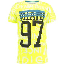 T-shirt Hias neon yellow