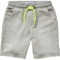 Korte broek Renzo light grey melee