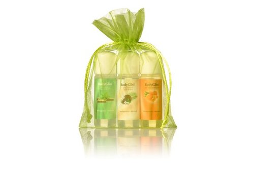 BodyGliss Giftset Groen - Chocolat & Mint, Cocos Rum en Orange