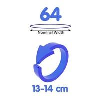 64mm - ruimere XXL condooms
