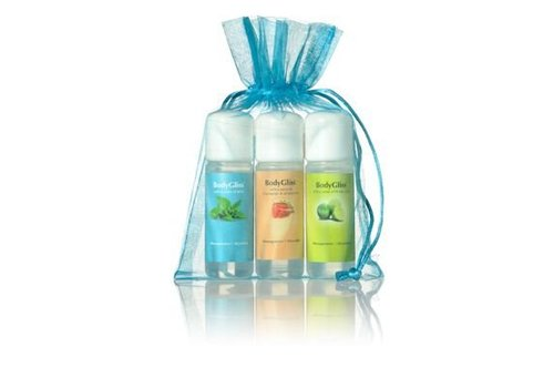 BodyGliss Giftset Blauw - Fresh Lime, Champaign & Strawberry, Mint