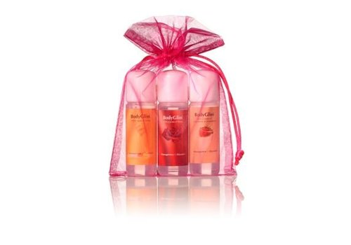 BodyGliss Giftset Roze - Champaign & Strawberry, Roses, Honey