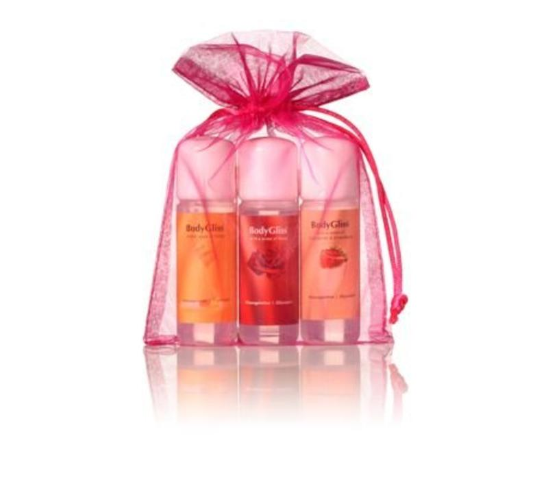 Giftset Roze with a sense of Champaign & Strawberry, Roses, Honey