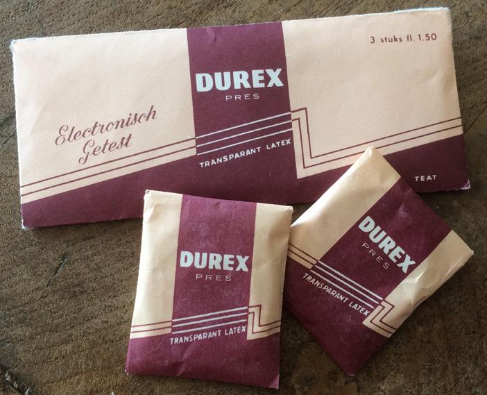 Oude verpakking Durex condooms