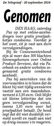 Gratis condooms