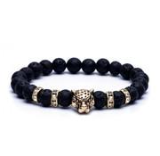 Triad Jaguar Armband Lavasteen Goud