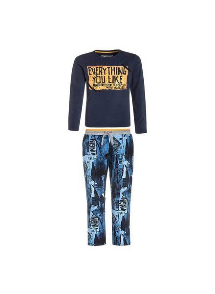 Vingino Pyjama Wenzel dark blue Katoen Elastan