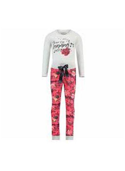 Vingino Vingino Pyjama Waylinn Red Lollipop Katoen Elastan