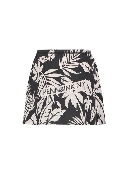 PENN&INK; Skirt AOP S18F226K Grey/Grid