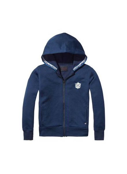 Scotch Shrunk Hooded Vest 139140 01 Katoen Elastan