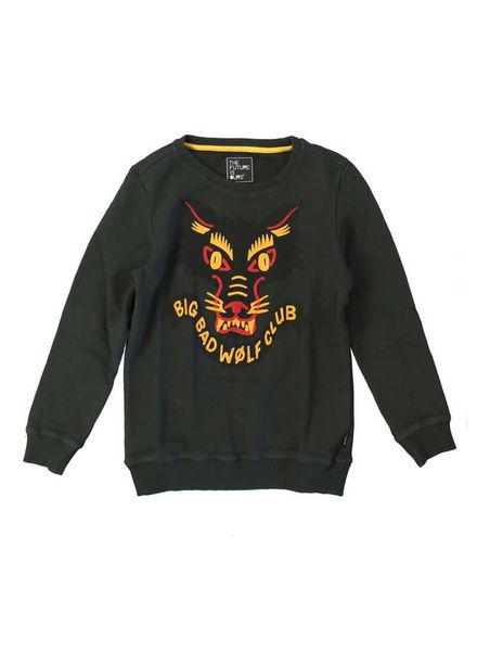 The future is ours Sweater Bad Wolf Green Katoen