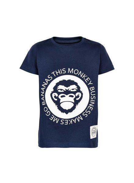 The New T-shirt Gonk Blue Katoen Elastan