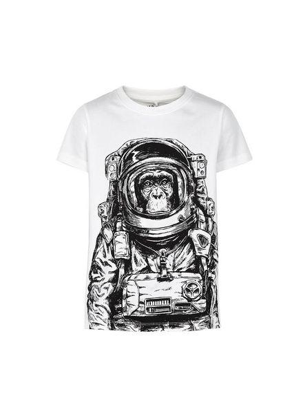 The New T-shirt Gape White Katoen Elastan