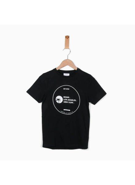 Grunt T-shirt Erik Black Katoen Elastan