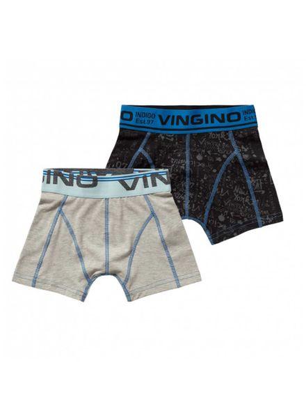 Vingino 2-pack shorts Powel Dark Blue Katoen Elastan
