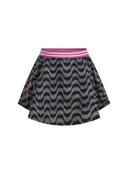 Ninni Vi Skirt NVSS18-24 AOP 3 Dark Grey Katoen Elastan