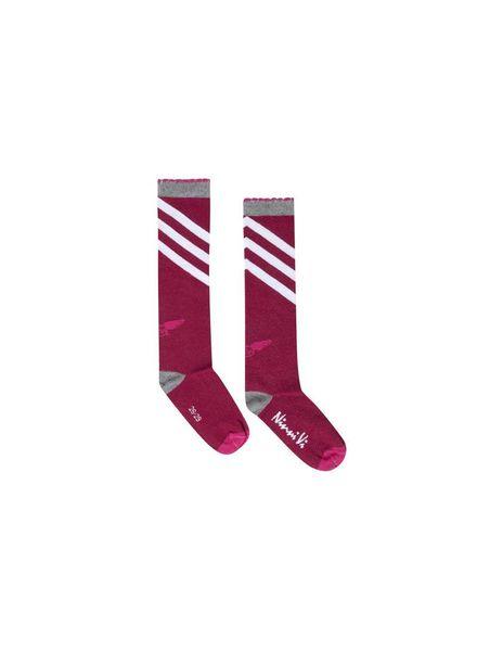 Ninni Vi Socks NVSS18-36 Dark Pink Katoen Elastan