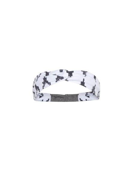 Ninni Vi Headband NVSS18-37 AOP 2 White Katoen Elastan