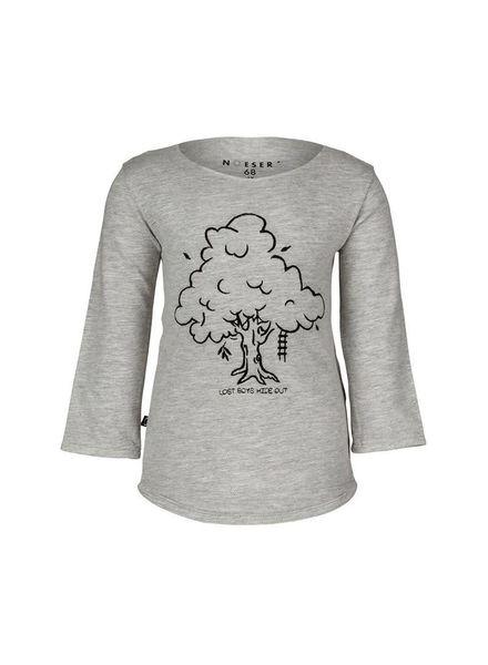 nOeser Valentijn Sweater Tree Shadow Grey Katoen