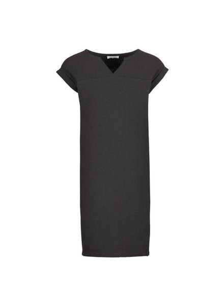dress Hanna off-black Katoen