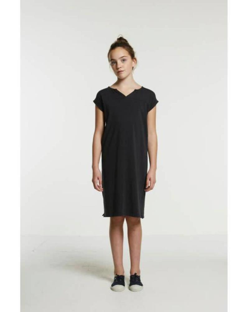 By Bar dress Hanna off-black Katoen