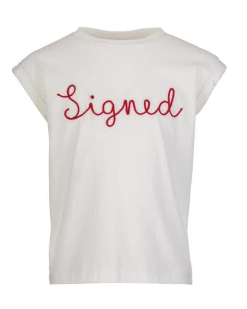 By Bar By Bar signed top Thelma white Katoen