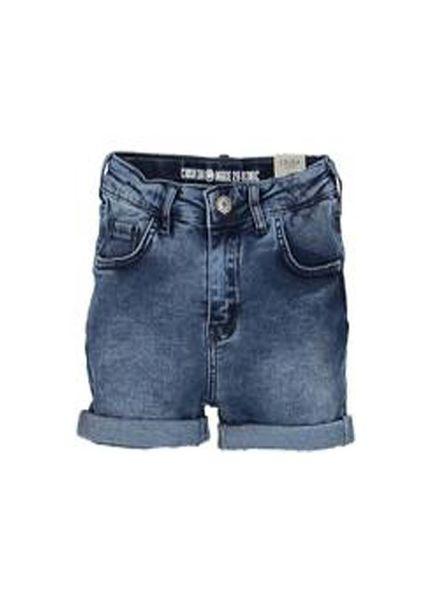 Crush Denim Crush Denim Jeans Short Tusa Mid Blue Katoen Elastan