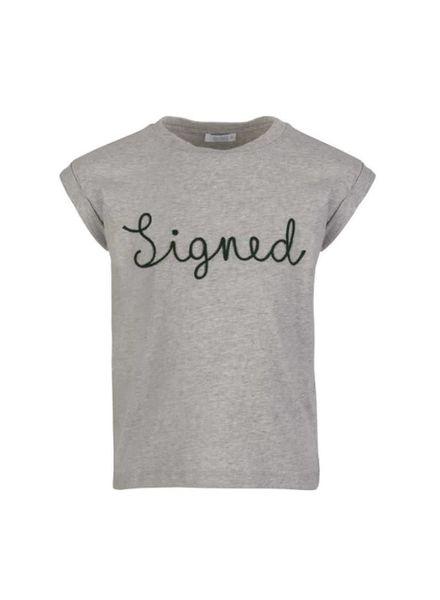signed top Thelma grey melee Katoen