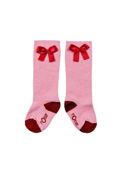 nOeser Socks bow pink Fairy Pink Katoen