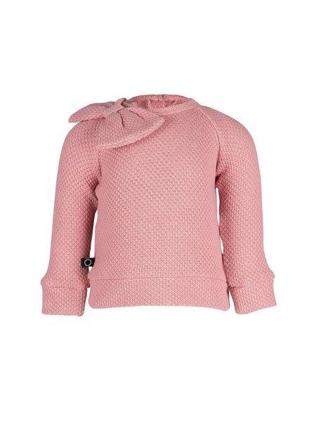 nOeser Floor sweater Bow Gold Fairy Pink Katoen
