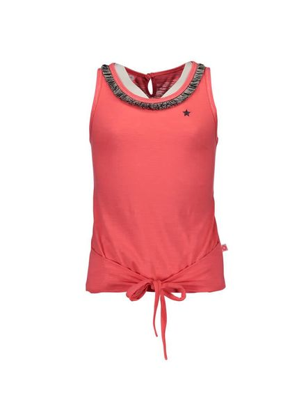 Like Flo Dress Like Flo neon knotted F702-5489 roze Katoen