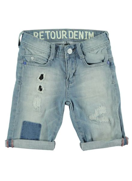 Retour Jeans Retour Jeans short William blue denim Katoen