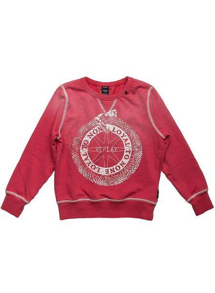 Replay sweater 2026.050 rood 159 Katoen