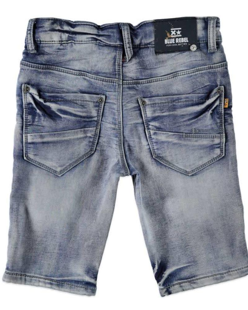 Blue Rebel Blue Rebel  Short Lucky Jog-Jeans 7132014 Engine Katoen Elastan
