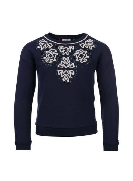 Looxs Revolution 708-5366 Navy sweater met ronde hals Katoen