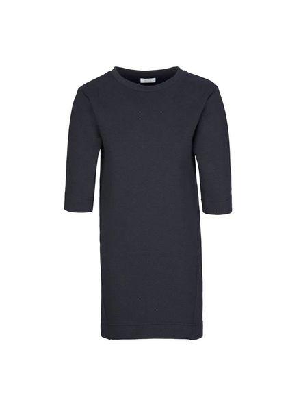 By-Bar dress Tess dark navy Katoen Elastan
