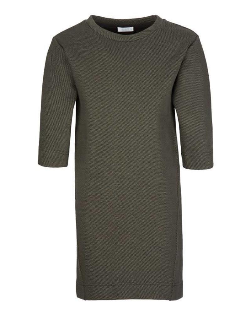 By-Bar dress Tess olive Katoen Elastan