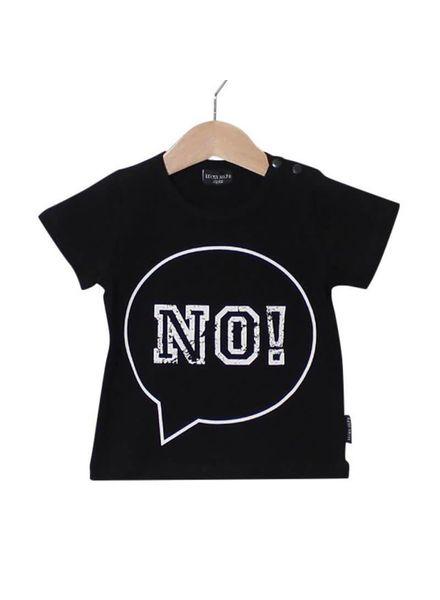 Lucky No7 7 T-shirt NO Black Katoen