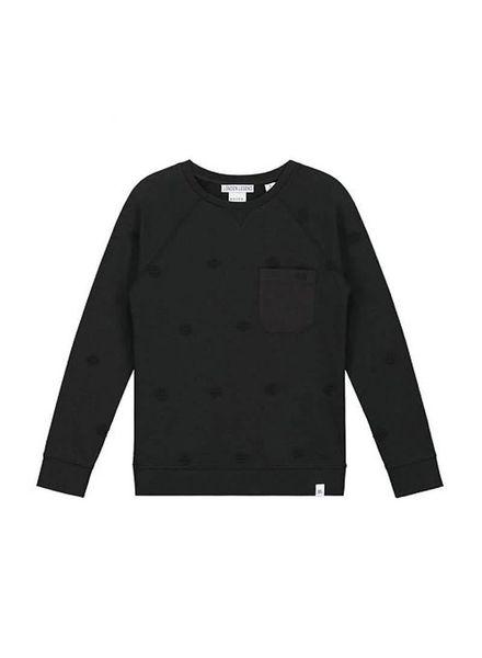 Nik & Nik by Nikkie Sweater Marcus Faded Black Katoen Elastan