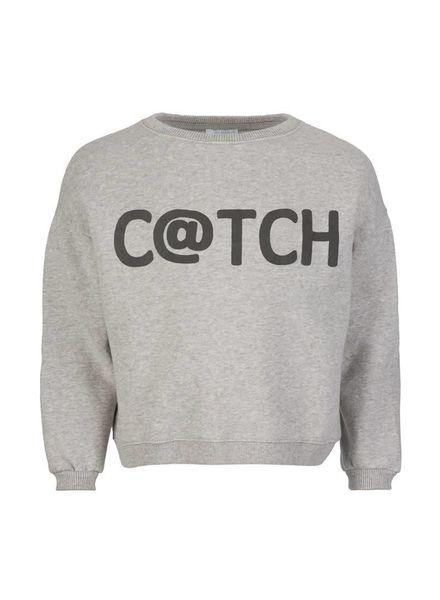 By-Bar C@TCH sweater Grey Melee Katoen Elastan